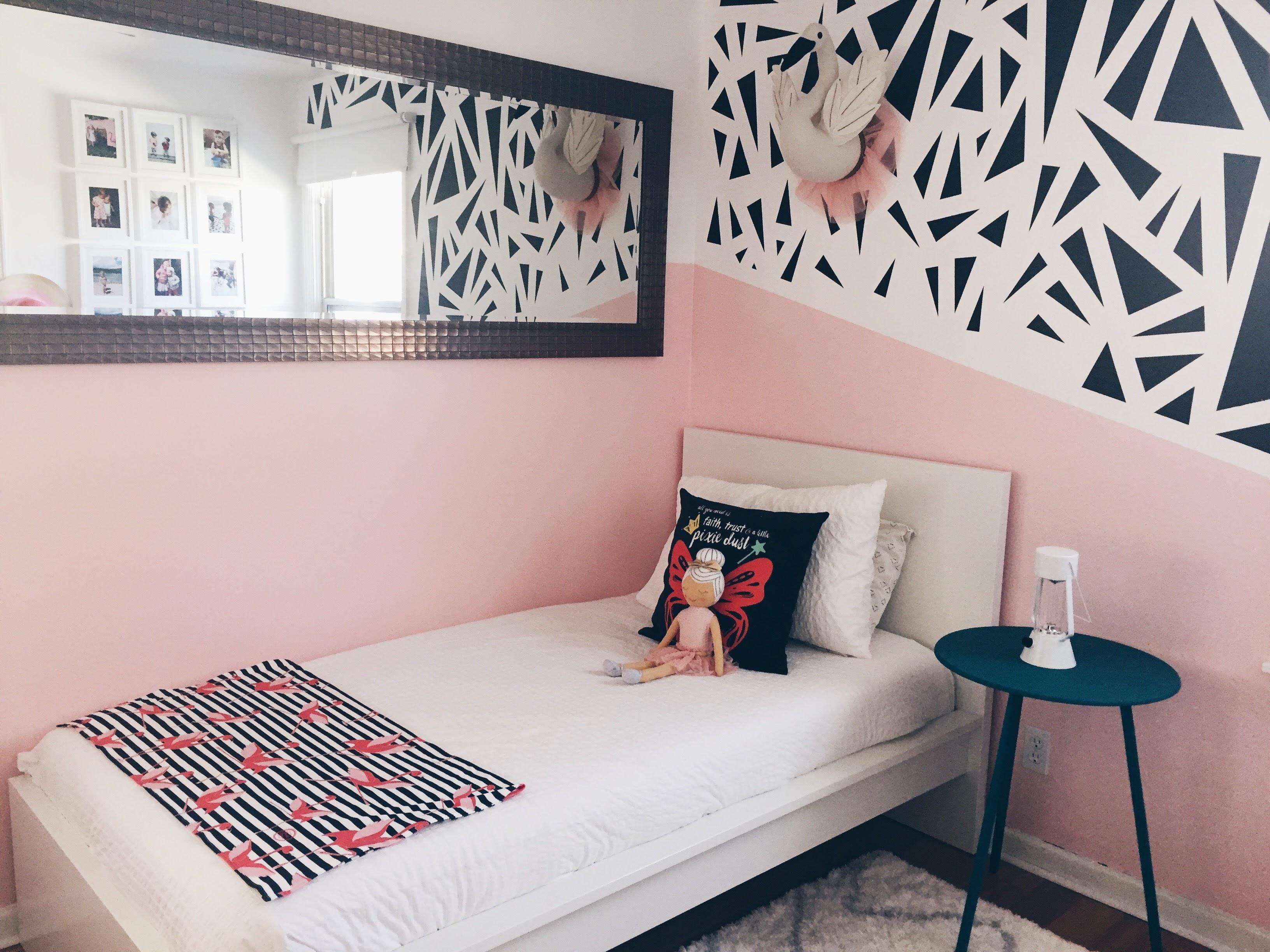 Charlie Rowan Designs Modern Pink Kids Room