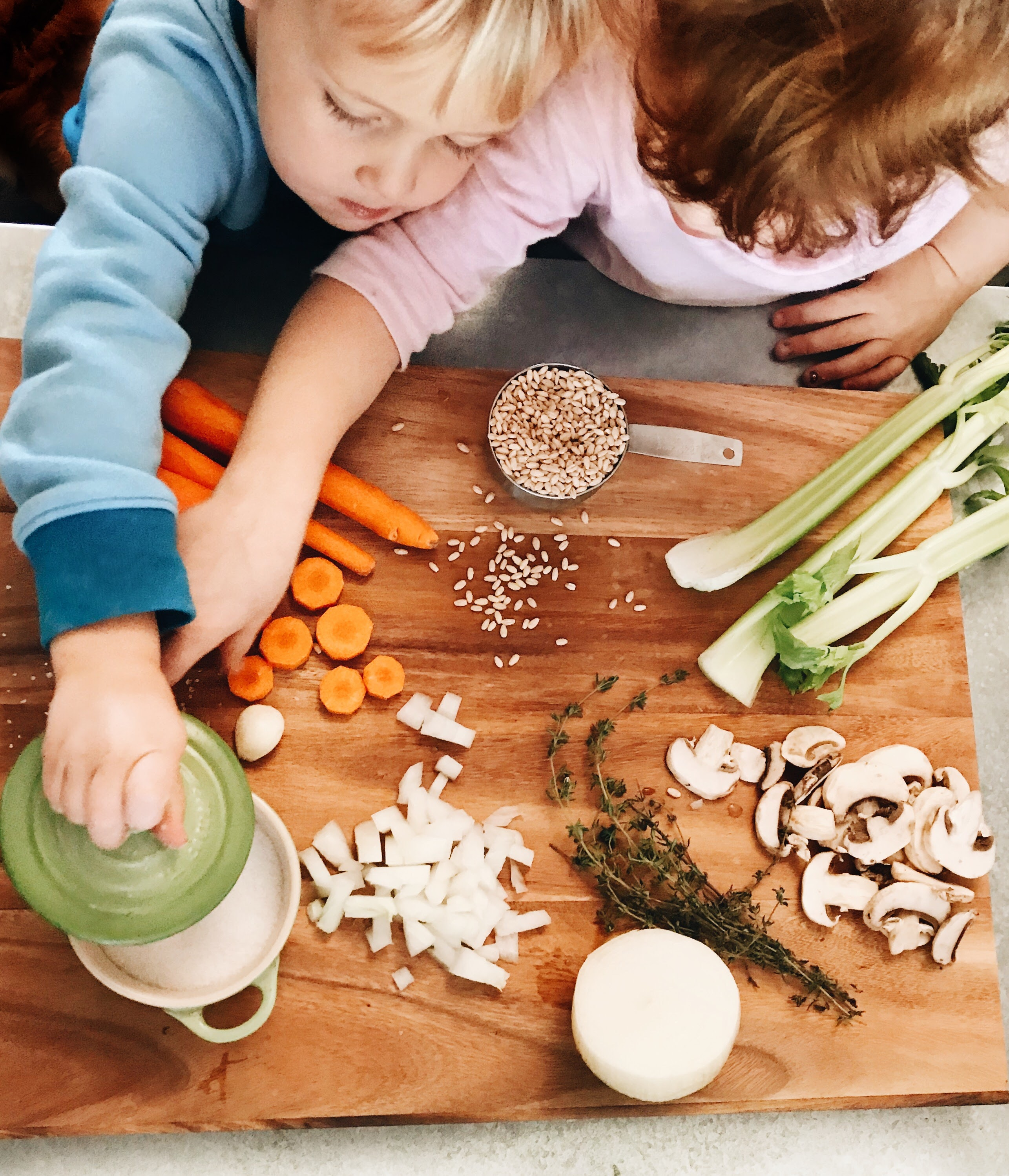 Barley Soup for Kids and Ironwood Cutting Boards