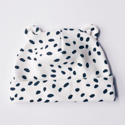 Black Dot Newborn Baby Bear Blanket Charlie Rowan Designs
