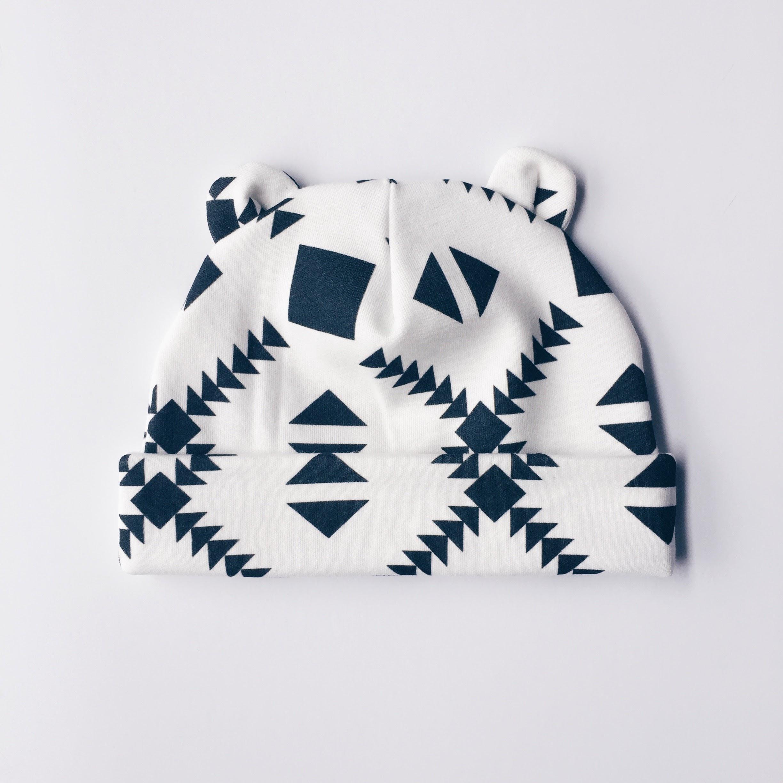 Tri Black    newborn beanie 0-3 month - Charlie Rowan Designs 5e507b4932a