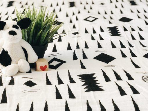 jackson muslin baby swaddle blanket Charlie Rowan Designs