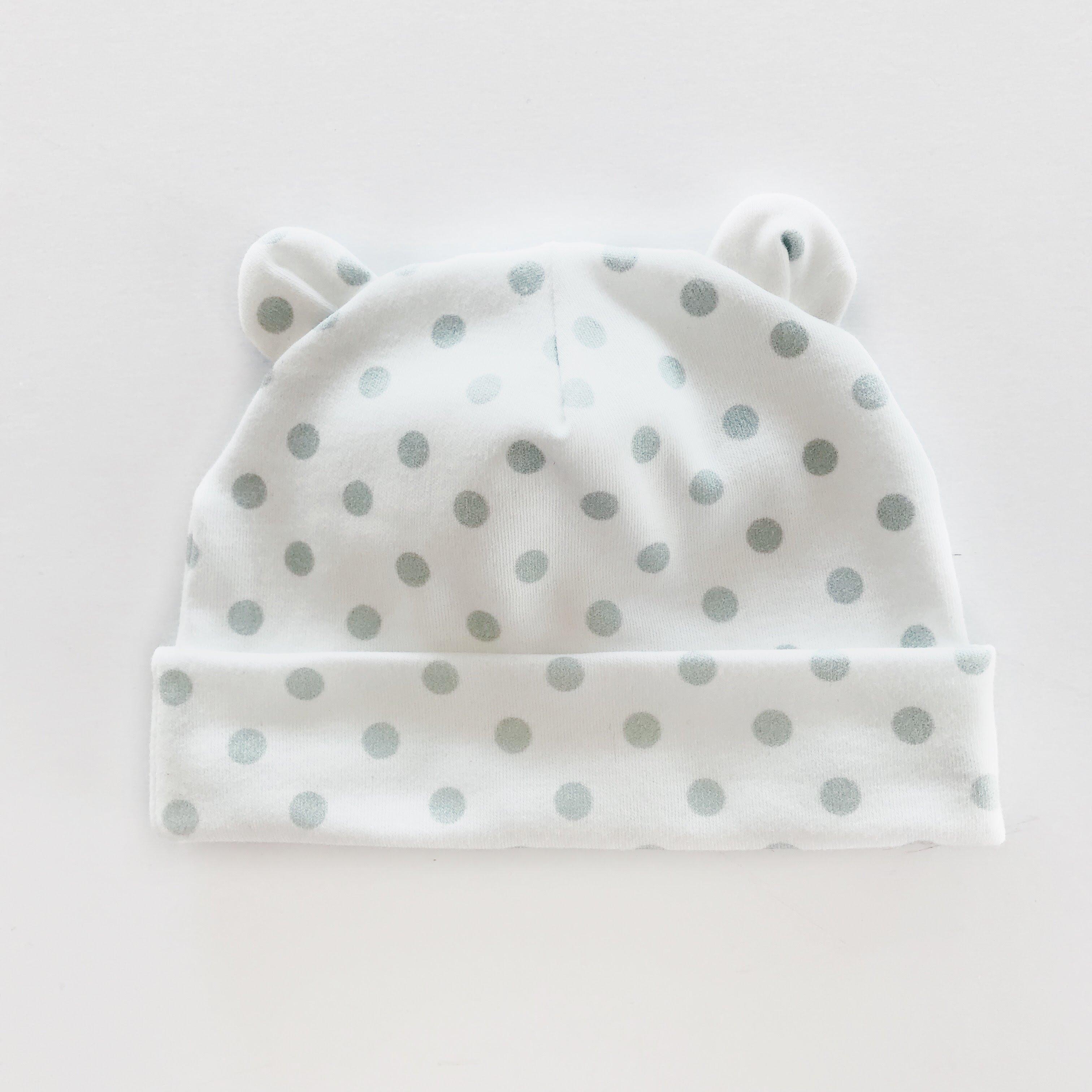 f88fda842 Dots Green    newborn beanie 0-3 month - Charlie Rowan Designs