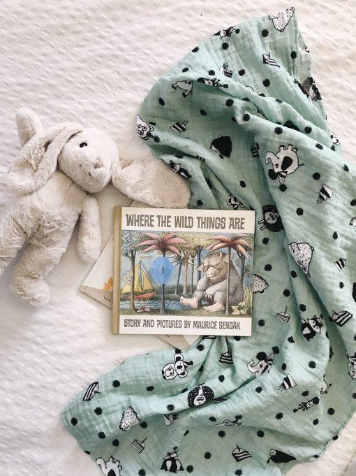 Party Muslin Baby Blanket by Charlie Rowan Designs