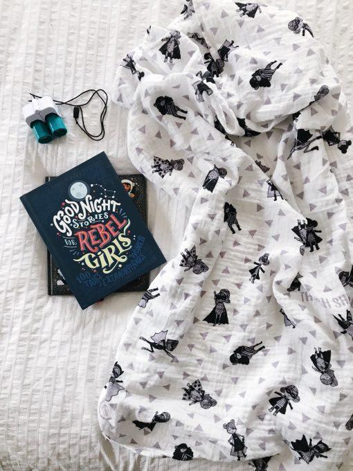Superhero Muslin Baby Blanket by Charlie Rowan Designs