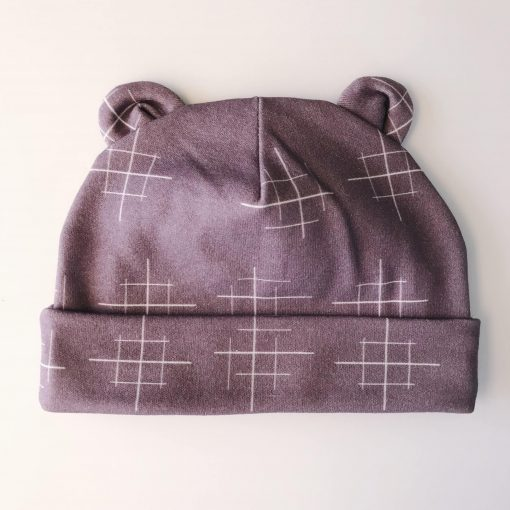 Newborn Lines Purple Hat Charlie Rowan Designs