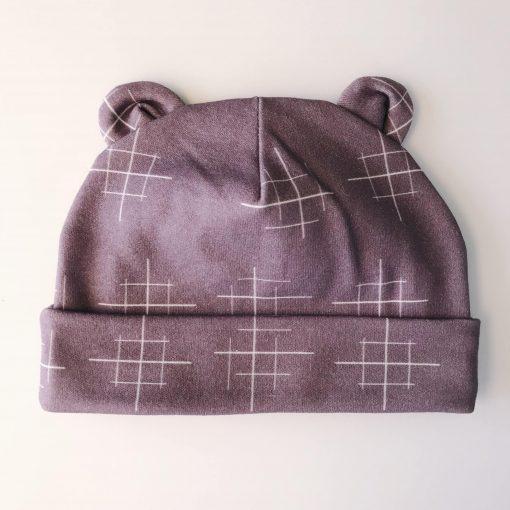 Newborn Lines Purple Hat Charlie Rowan Designs