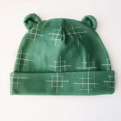Newborn Lines Green Hat Charlie Rowan Designs