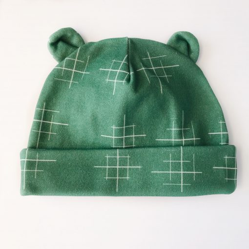 Newborn Lines Green Hat Charlie Rowan Designs